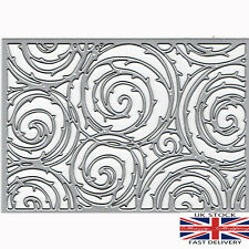 large lace swirl flourish background die metal cutting die cutter UK seller