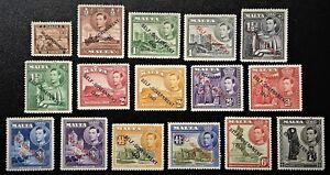 MALTA 1948 Sc# 208-217 w/variations Mint NH OG VF/XF (K-10)