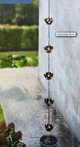 Regenkette NEU mit Blumen aus Metall 180 cm lang