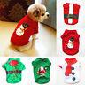 Dog Christmas T-shirt Puppy O Neck Short Sleeve Vest Winter Warm Pet Clothes New