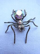 Bijoux strass Broche Brooch araignée spider araignée broche argent Nº 43