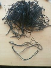 HUGE LOT OF ORGANZA RIBBON AND CORD NECKLACES, BLACK
