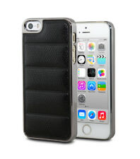 Luxury Ultra Thin Chrome Leather Shockproof Back Case Cover For iPhone 5S 5 SE