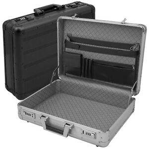 anndora Aktenkoffer Aluminium Attaché Koffer abschließbar Zahlenschloss