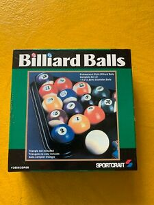 "Sportcraft Billiard Pool Balls set 16 professional style 1 1/2"" diameter"