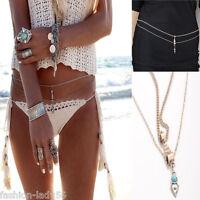 Sexy Women Beach Bikini Harness Belly Waist Charm Silver Body Chain New Jewelry