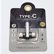Duo head USB-C naar 3,5mm Jack audio adapter - Zilver