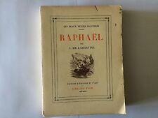 RAPHAEL 1933 DE LAMARTINE BEAUX TEXTES ILLUSTRES