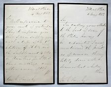 John Sowerby, Two Signed Hand Written Letters to Geo. E. Frese Esq, 1853