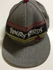 Angry Birds Grey Embroidered SnapBack Baseball Hat Cap Wool Blend