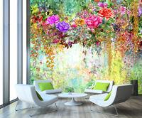 3D Fleur Arbre 3 Photo Papier Peint en Autocollant Murale Plafond Chambre Art