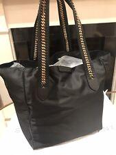 BNWOT Stella McCartney Falabella Eco Nylon Black Large Tote Bag With Chain