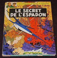 Blake et Mortimer -1&2- / Le Secret de l'Espadon -T1& T2  -/ 1964 / BE+