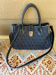 $175  DOONEY & Bourke Signature CHARCOAL Small Double Handle Tote  BAG