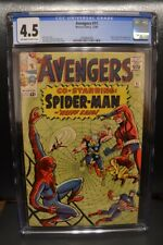 Avengers #11 (1964) CGC 4.5, OW/W Pages;Early Spidey appearance; Kang appearance