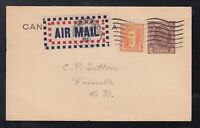 Canada 1941 Mufti Uprated KGVI Postal Stationery Card Airmail New Wesminster BC