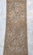 ANTIQUE FRENCH HAND WOVEN TABLE CLOTH VINTAGE AND RARE