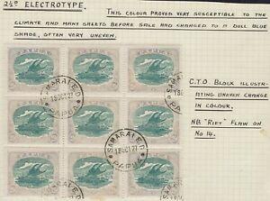 PAPUA 1916 LAKATOI 21/2D CTO BLOCK