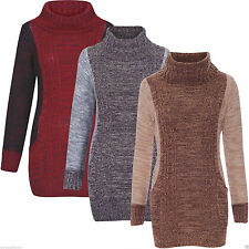 Acrylic Hip Length Cowl Neck None Women's Jumpers & Cardigans