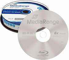 20 MediaRange BD-R DL 50GB 6x Blu-ray Rohlinge Spindel