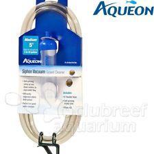 """Aqueon Siphon Self Priming Aquarium Gravel Vacuum Cleaner & Clip Medium 5"""""""