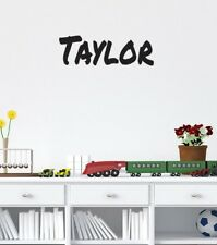 Personalised boys name large wall sticker