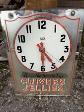 More details for chivers jellies advertising clock by smiths rare
