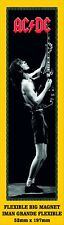 AC/DC ANGUS YOUNG LOGO IMAN GRANDE 52mm X 197mm FLEXIBLE BIG MAGNET A0072