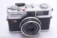 MINOLTA HI MATIC F 35MM COMPACT RANGE FINDER CAMERA W/ 38MM 2.7 ROKKOR LENS