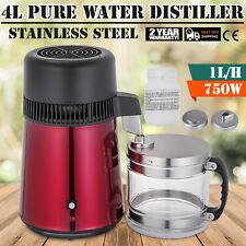 4L Pura Acqua Distillatore Depuratore 750W Medica 1L/H Controsoffitto Premium