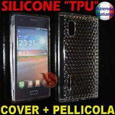 Cover Custodia Per LG L5 Optimus E610 Trasparente Gel Silicone + Pellicola