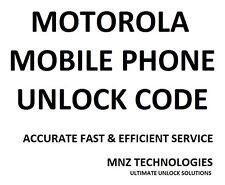 CODICE di sblocco Motorola Moto G xt1032/xt389/xt610/xt626/xt925/xt910