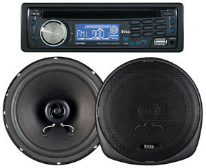 """NEW BOSS 647CK DETACHABLE FACE CD/MP3 RECEIVER WITH 6.5""""/5.25"""" 2 WAY SPEAKERS"""