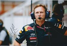 Christian Horner SIGNED Red Bull Pit Walk AUTOGRAPH 12x8 Photo AFTAL COA