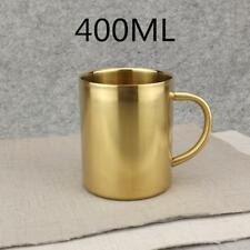 Stainless Double Wall Coffee Cup/Coffee Mug Beverage Tumbler 400ml Gold