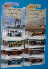 HOT WHEELS Star Wars Set of 8 Rockster Pony-Up Fast Fish Silhouette + 4 More NIP
