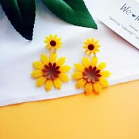 Unique Acrylic Flower Shape Drop Earrings Daisy Earrings For Women Accessories
