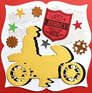 Handmade By Susie Men's Motorcycle Motorbike Card Topper FLAT RATE UK P&P