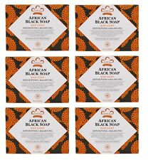 Nubian Heritage AFRICAN BLACK SOAP with Oats Aloe Vitamin E 5 OZ - LOT OF 6 BARS