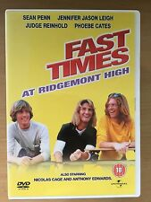 Sean Penn FAST TIMES AT RIDGEMONT HIGH ~1982 Teen culte Comédie classique GB DVD