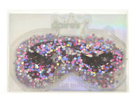 Claire's Queen Glitter Cooling Gel Eye mask in Purple New with Tags