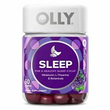 OLLY RESTFUL SLEEP 50 Gummies Multivitamin VITAMIN Melatonin L-Theanine Botanica