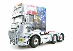 WSI 01-3174 Scania Topline 6X2 Truck TOP GUN Decker Transporte 1:50