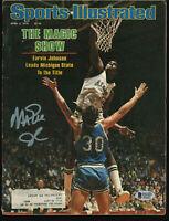 Lakers Magic Johnson Signed April 1979 Sports Illustrated Magazine BAS #MJ06002
