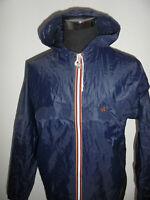 vintage WAGNER Nylon Regenjacke oldschool rain jacket blau 80s 90er Gr.6 M/L
