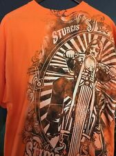2XL Sturgis SD Easy Riders Saloon Sturgis Saloon Company Orange T-Shirt Mens
