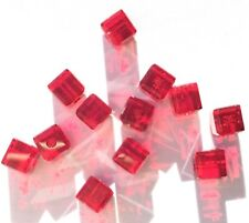 12 Swarovski® Crystal Siam cube/Square 4mm Beads Loose beads