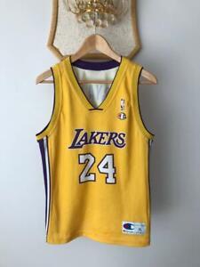 LOS ANGELES LAKERS NBA BASKETBALL JERSEY SHIRT VINTAGE CHAMPION KOBE BRYANT #24