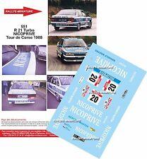 Decals 1/43 réf 551 RENAULT 21 Turbo NICOPRIVE JOYES / DE LA FOATA  Corse 1988