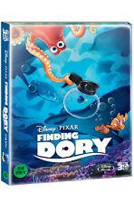 Finding Dory (2016, Blu-ray) Steelbook w/ PET slip case, Metal sticker / Korean